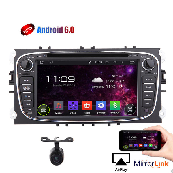 Eincar Android 6.0 System Quad-core Car Radio Double Din Stereo for Ford Mondeo S-max Focus 7'' Car DVD Player Car GPS Navigation