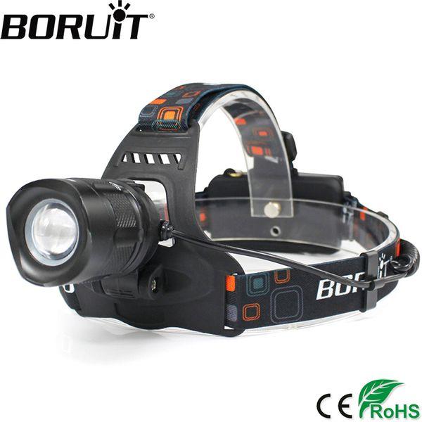 BORUiT 2000LM XML T6 LED Headlamp 5-Mode Zoom Headlight POWER BANK Head Torch Camping Hunting Frontal Lantern 18650 Battery