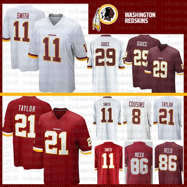 809fa6b72 Best quality Washington 11 Alex Smith 21 Sean Taylor Redskins Jersey 72  Eric Fisher 86 Reed 29 Derrius Guice Jerseys Mens 8 Kirk Cousins
