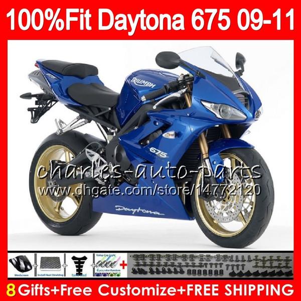 Injection For Triumph Bodywork Daytona 675 2009 2010 2011 2012 107HM.75 Daytona 675 09 10 11 12 Daytona-675 Daytona675 Stock blue Fairing