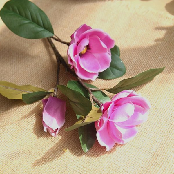 2019 Artificial Flowers Leaf Fake Magnolia Flower Flowers Floral