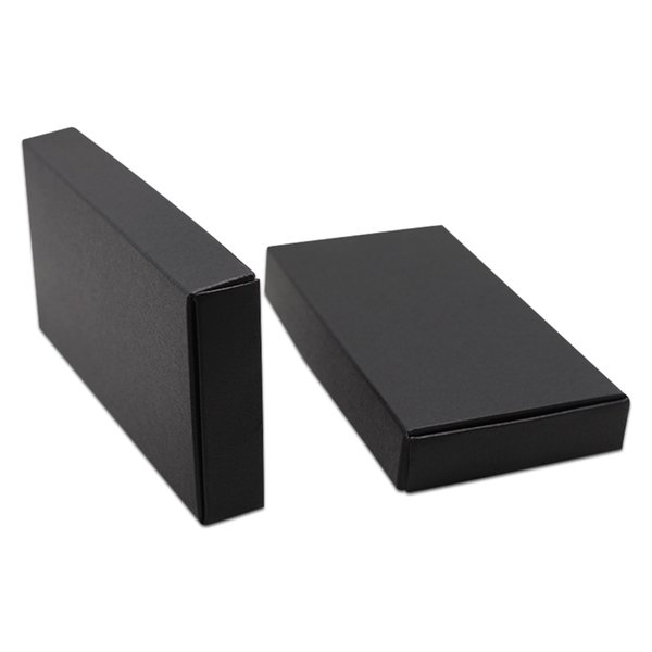 30Pcs/lot Big Sizes Black Carton Paper Crafts Package Box Natural Scarf Handmade Gifts Packing Box Paperboard Packaging Box