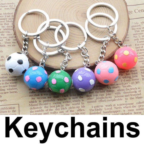 2018 Newest Simulation Small Football Keychain Fan Souvenir Gift Key Rings Creative Gift Keyfob Wholesale (Random Color Send) G733Q