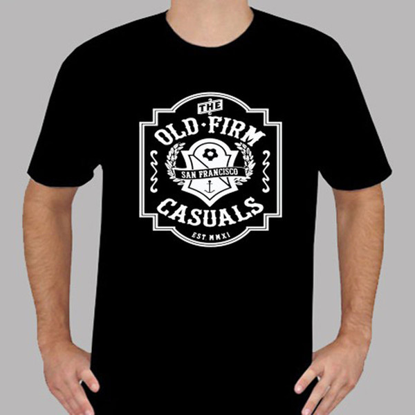 2018 Short Sleeve Cotton T Shirts Man Clothing New THE OLD FIRM CASUALS  Band Crest Logo Men'S Black T Shirt Size S To 3XL T Shirt Quotes Mens Dress