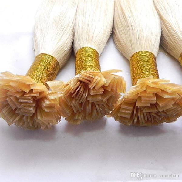 Extensión recta brasileña del pelo de la extremidad plana dibujada doble retraída 1g / filamento 100g queratina 18 a 30 de la pulgada del pelo humano de la Virgen del 100%