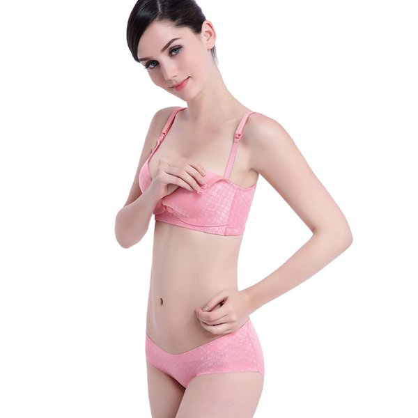 No steel ring pregnant women underwear set A minute to fall in love with the nursing bra to protect the chest mommy Baby Health 3072L