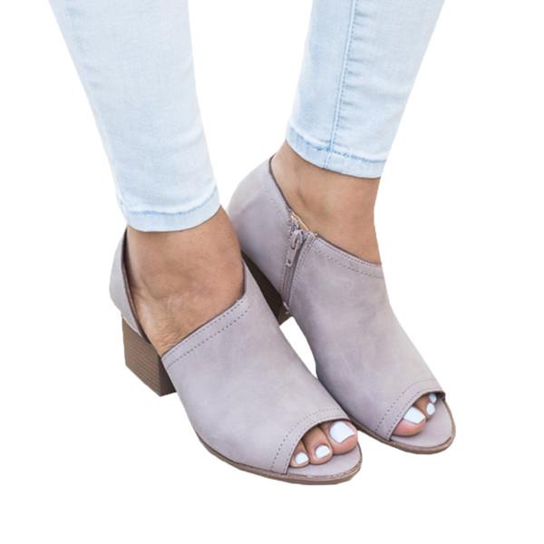 diseño de calidad 758cc 588bf Compre ANGUSH Nuevo Diseño De Moda Para Mujer Sandalias De Tacón Bajo Baja  Ayuda Zapatos De Tacón Grueso Mujer Tamaño Extraíble Boca De Pescado ...