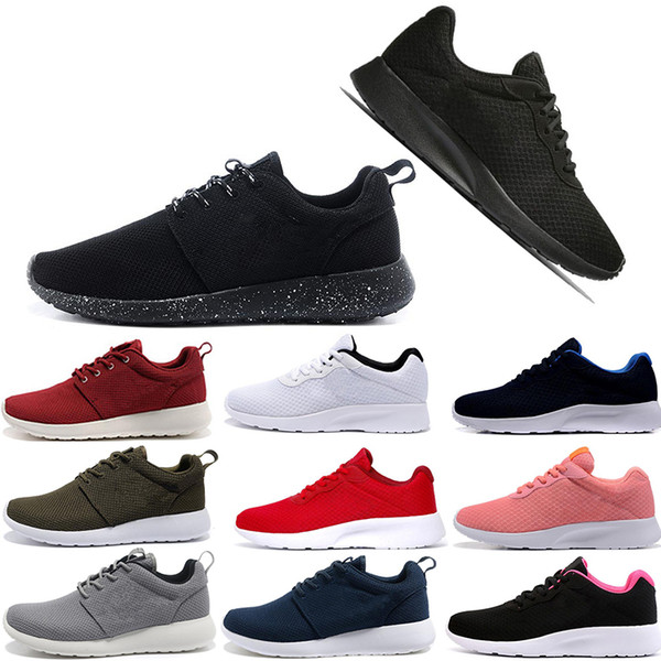Nike roshe Formateurs baskets chaussures de sport de marque designer casual tanjun outdoor walking london noir blanc rouge bleu off white GUU hommes chaussures de course coureurs de course