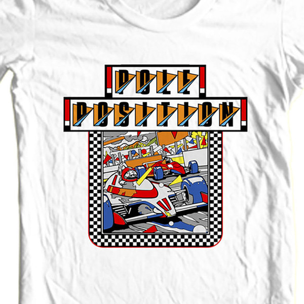 Details zu Pole Position t-shirt vintage retro old school arcade video game Funny free shipping