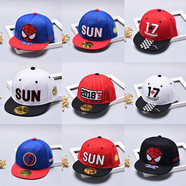 Baby Super Man Hat Baseball Cap Children Snapback Hat Infant Captain America Batman Hats Hip Hop Sun Caps