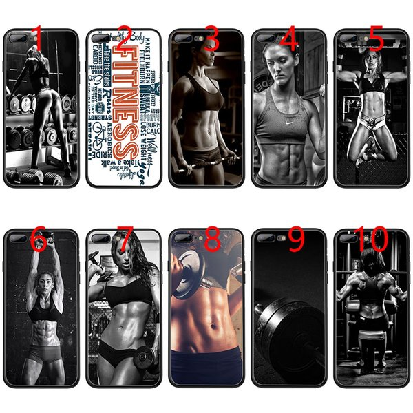 Health and Fitness girl Soft Black TPU Phone Case for iPhone XS Max XR 6 6s 7 8 Plus 5 5s SE Cover