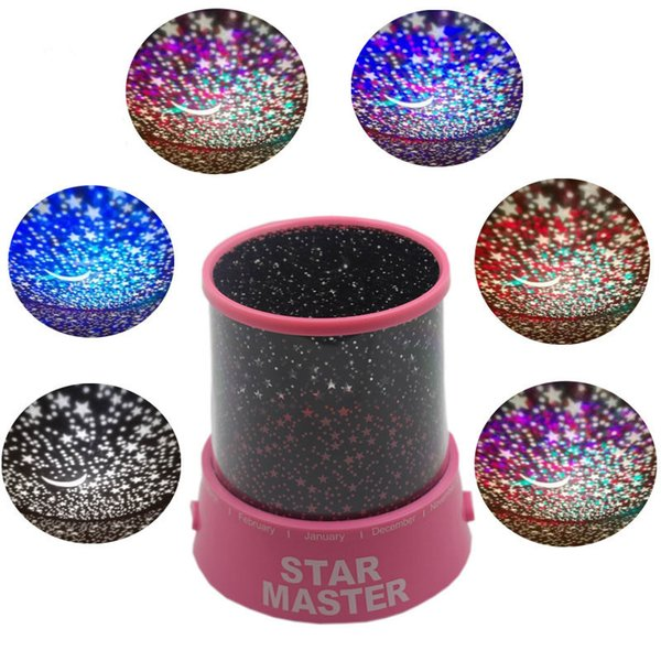New Stars Sky LED Light Up Toys Projector Moon Novelty Toys Glow In The Dark For Baby Kid Children Sleeping Gift