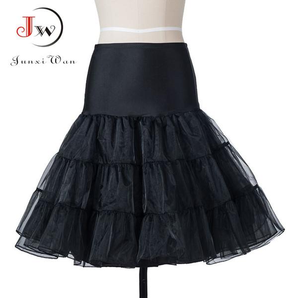 Toptan Satış - Tutu Etek salıncak Rockabilly Petticoat Jüpon kabarık pettiskirt Düğün Gelin için Vintage 50s Audrey hepburn Kadınlar Balo