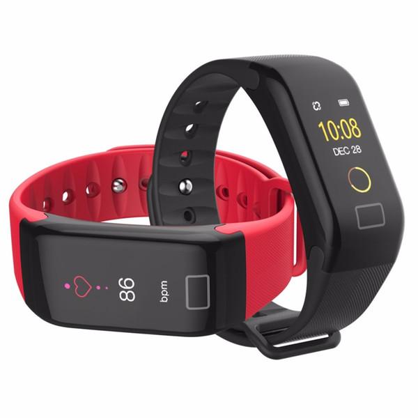 F1 PLUS 0.96 Inch Color Screen Men Women Smart Wristband Waterproof Heart Rate Fitness Tracker Smart Bracelet for Dropshipping