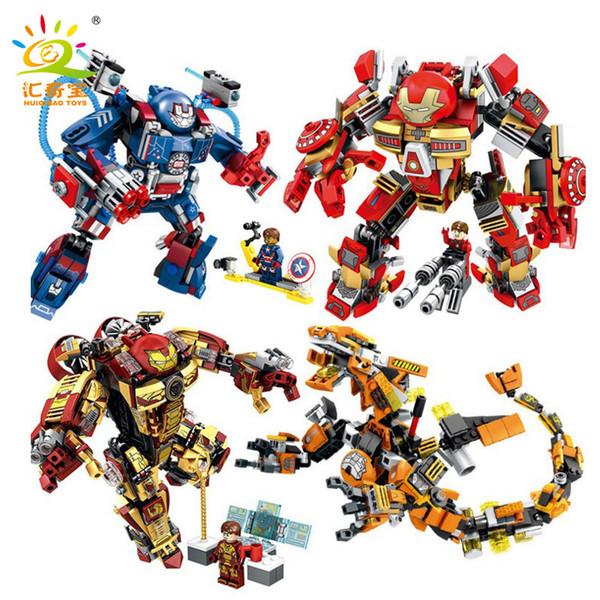 best selling Anti Ho, iron man, machine, deformation fighter, intelligence building blocks, children's toys wholesale.