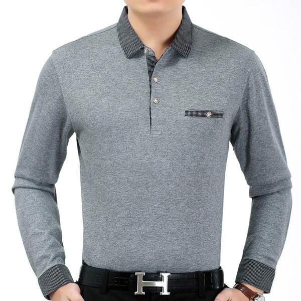 2018 new mens clothing long sleeve  shirt summer pol men flower brands s tee shirts dress streetwear male shirt 7082