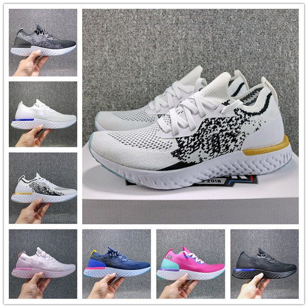 Wholesale Epic React Fly Knitting Sport Sneaker White Gold Pink Green World Cup Designer Breathable Running Shoe Without Box