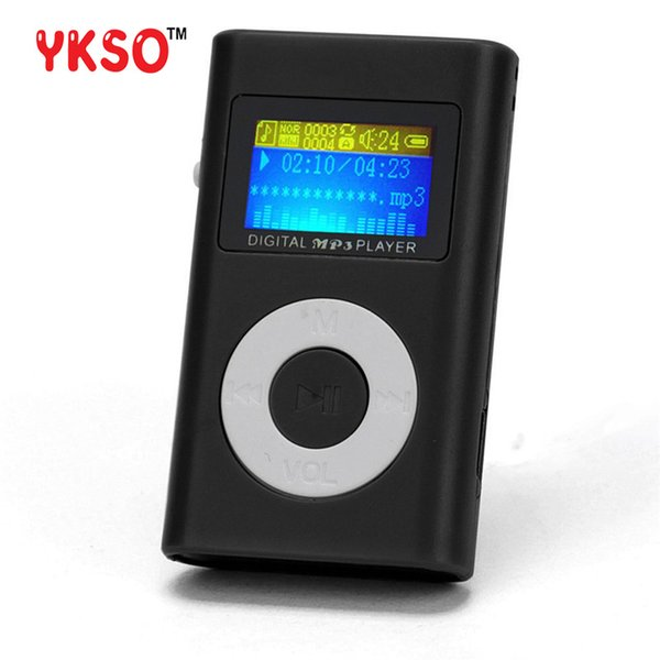 YKSO Mini MP3 Music Player USB LCD Screen MP3 Portable audio Support 32GB Micro SD TF Card sport Headphones Player