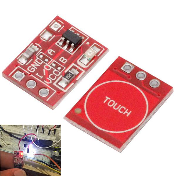 Spedizione gratuita! 10 PZ TTP223 Touch Key Switch Module Touching Button Interruttori Capacitivi Autobloccanti / No-Locking Interruttori Capacitivi