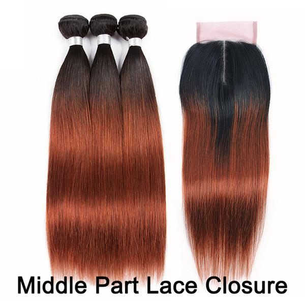 1B/33 4x4 Middle Part Lace Closure