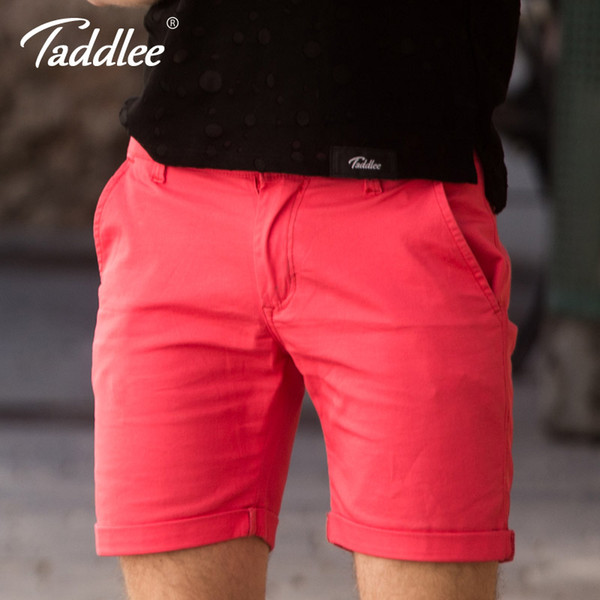 Taddlee Brand Men Shorts Cotton Solid Cargo Slim Fit Casual Bottoms Zipper Clothing Sweat Shorts Joggers Trousers Knee Length
