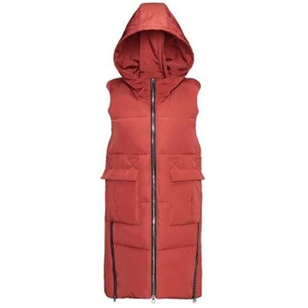 Autumn Winter Womens Hooded Vest 2018 Solid Slim Zipper Long Vest Pockets Waistcoat Down Cotton Parkas Outwear Jacket PZ381