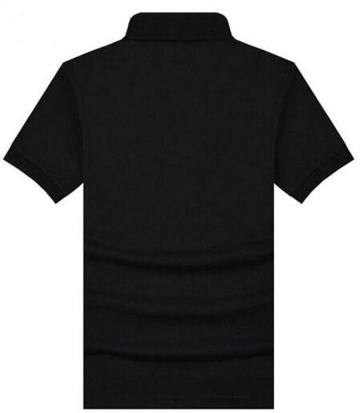 Los últimos London Brit Cotton Summer Solid Polo Shirt Fashion Turn Down Collar Classic Polos Britain Casual Polo S-XXL