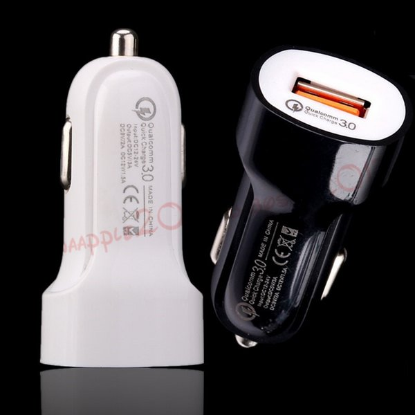 QC 3.0 Quick charge 5V 3A 9V 2A 12V 1.5A Dc usb car charger power adapter for iphone samsung s8 s9 gps mp3 bluetooth speaker