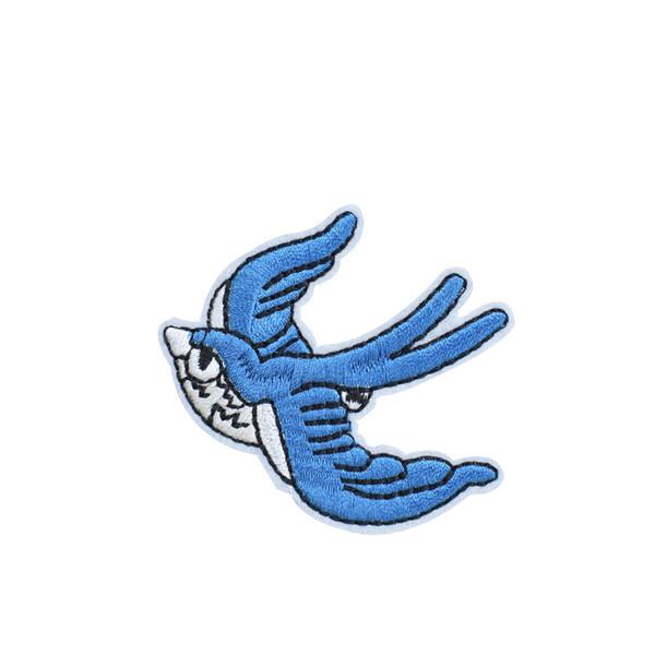 10 PCS Swallow Patch ricamate per abbigliamento Iron on Transfer Patch per applique per borse da sera Cucire su Badge ricamo