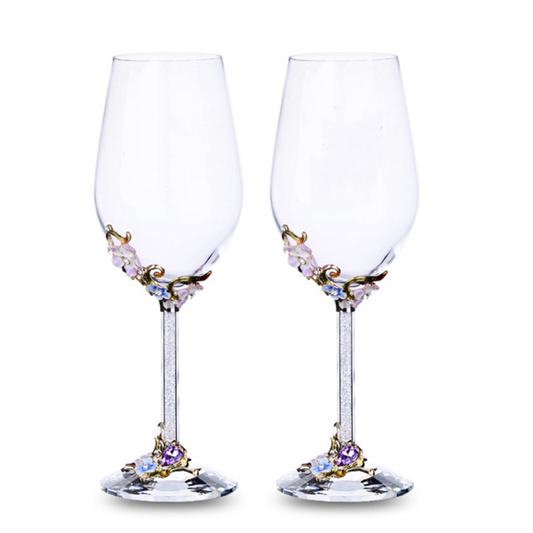GFHGSD Champagne Glass Flutes Perfect for Wedding Gifts, Set of 2, Luxury K9 Crystal Toasting Flutes and Wine Glasses QWE1030