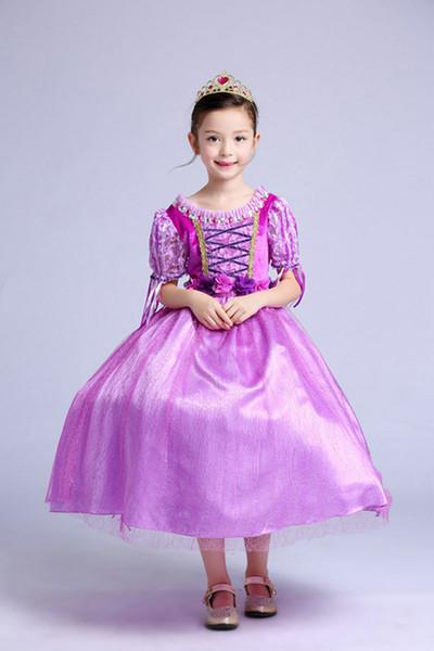 Prenses elbise kız etek ilkbahar ve yaz kız elbise yeni kız bebek uzun etek