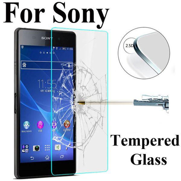 9H HD Dureté En Verre Trempé Pour Sony Xperia Z3 Compact Z Z1 Z2 Z4 Z5 M2 M4 M5 Premium Clair Protecteur D'écran En Verre Sur M4 Aqua