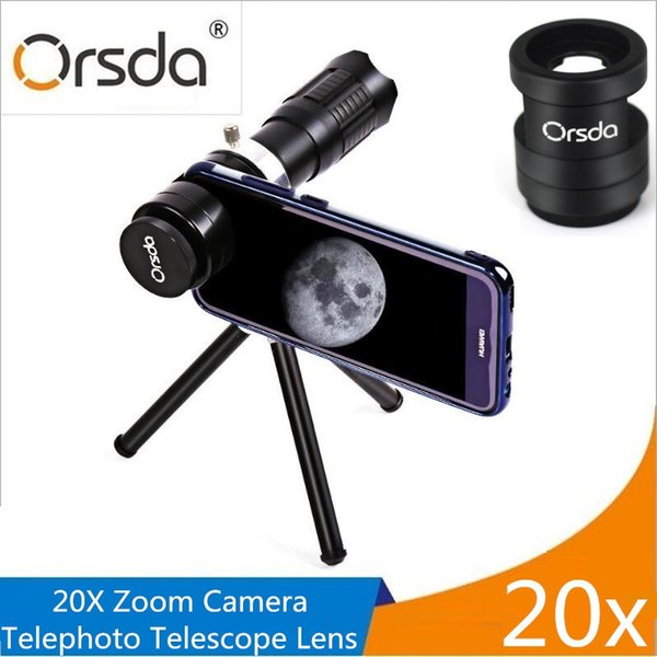 wholesale HD 20x Zoom Mobile Phone Telescope Lens Telephoto External Smartphone Camera Lens For IPhone Sumsung Huawei Xiaomi lenses