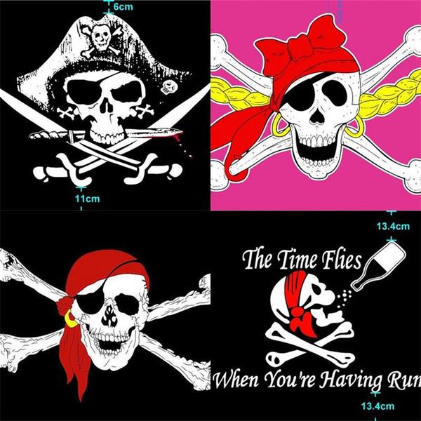 Pirate Pendaison Drapeau Rouge Écharpe Crâne Des Caraïbes Main Drapeaux Film Bannière De Bande Dessinée Décoration De La Maison Festival Fournitures Partie Favor 6qw bb