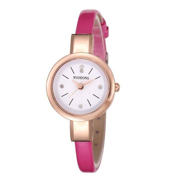 Petites femmes conception simple montre en cuir 2018 en gros mode casual dames filles étudiants robe quartz diamant montres-bracelets