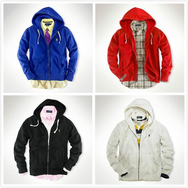 Wholesale-Free delivery 2018 Polo Men's Zipper cardigan Sport hooded hoodies Fashion Coats Jacket Sportswear sweatshirts hoodie size