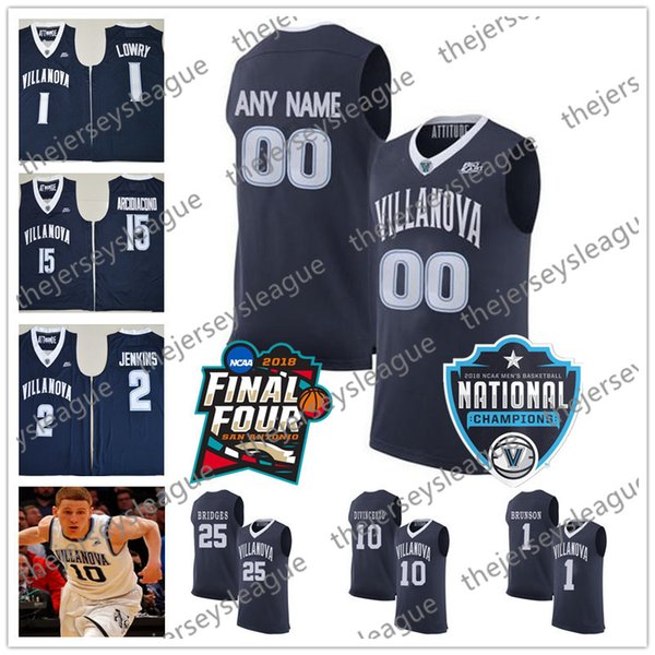 Custom Villanova Wildcats White Any Name Any Number Navy Blue #10 Donte DiVincenzo Stitched NCAA College Basketball Jerseys S-3XL