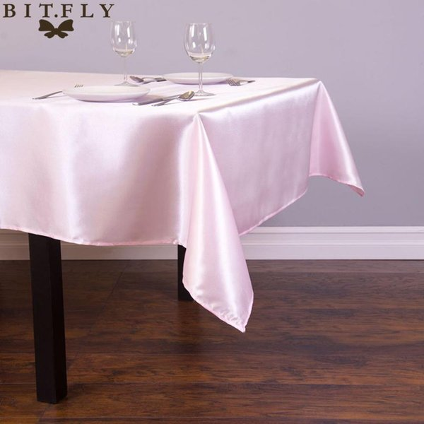 vent Party Holiday DIY Decorations 145cmx304cm Satin Table Cloth rectangular Tablecloth fabric For Home Wedding tables restaurant Party ...