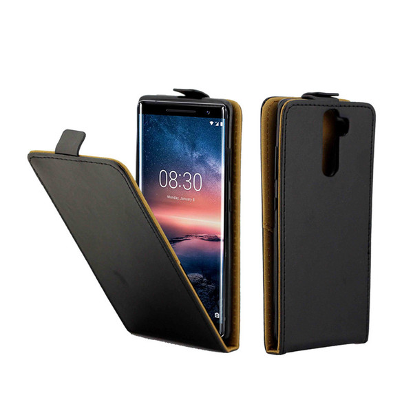 Business Leather Case For Coque Nokia 8 Sirocco Vertical Flip Cover Card Slot Cases For Nokia 8 Sirocco Phone Bags