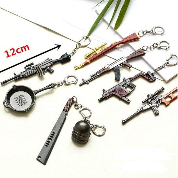 Game PUBG Playerunknown's Battlegrounds Gun Model Keychain Mini Cosplay Key Chain Key Rings Fashion Jewelry Drop Shipping