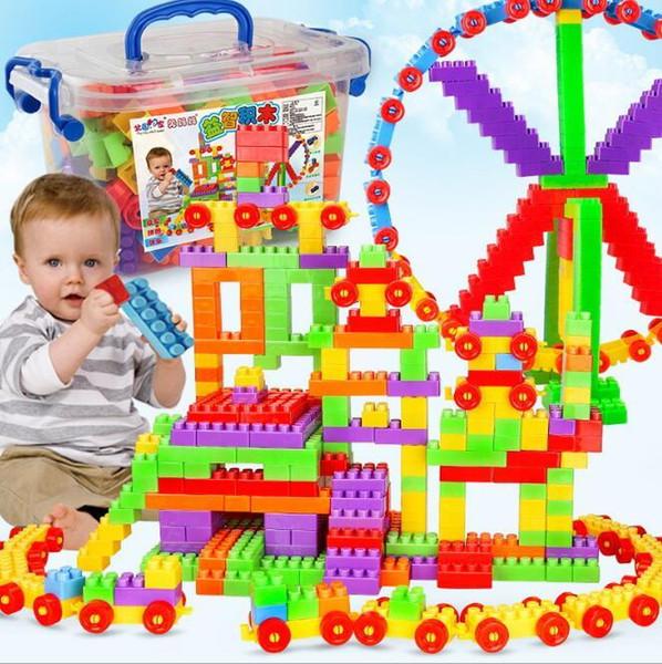 Jouets éducatifs usine enfants directs de grandes particules blocs de construction 72 mis en boîte 160-400 grande sacs de particules en gros