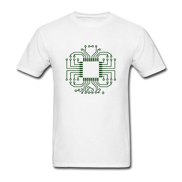 135c695b8 Hot Sale Men T Shirt Fashion Electric Circuit Board Processor Custom Shirts  Popular Couples Big Size Cotton Men's Clothes