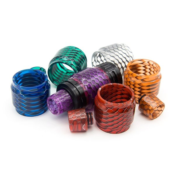 Resin Replacement Tube Cap Kit Big Capacity Honeycomb Cobra Drip Tip For VALYRIAN Valyrian Sub Ohm Tank Glass Tank Visual Ability Hot Sale