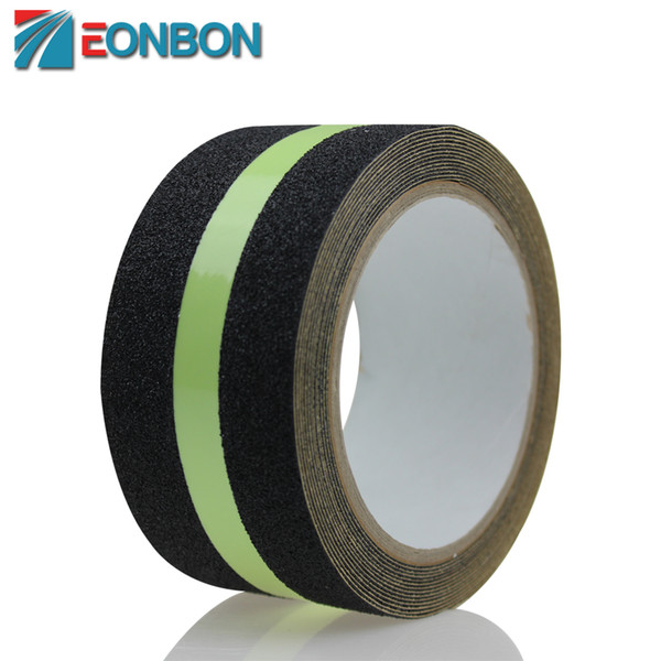 Free Shipping 50MMX3M Luminous Tape Anti slip Non skid Adhesive Tape With Glowing Strip For Stair Step Floor