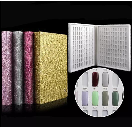 Newest 216 Colors Nail Gel Polish Display Book Nail Practice Chart & Natural Nail Art Salon set