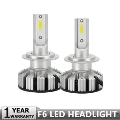 top popular PAMPSEE New Upgrade Mini Canbus H4 H7 Car LED Headlight Kit 50W 10000LM Set H1 H11 9005 9006 6000K Bulbs Car Accessories 2021