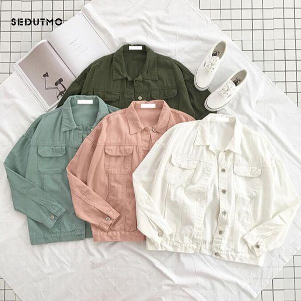 SEDUTMO Spring Denim Jacket Women Boyfriend Jean Coat Streetwear Harajuku  Vintage Candy Jackets Autumn Casual Outerwear