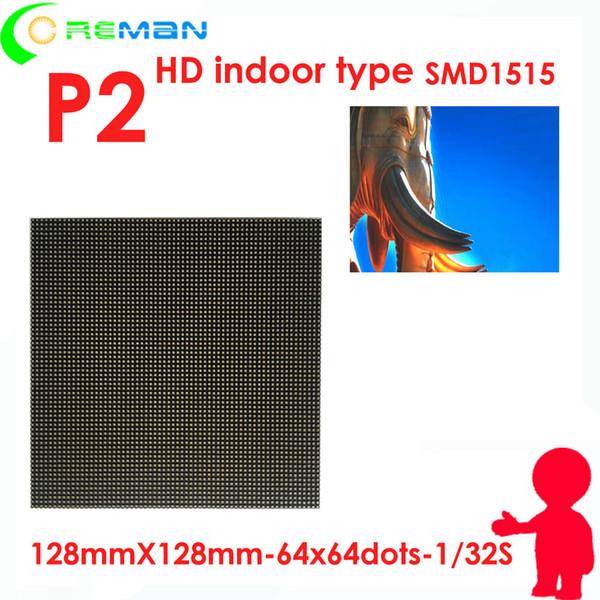Prix le plus bas HD intérieur p2 led matrice module rgb polychrome hub75 exposition salle de réunion led écran panneau p2 petite unité