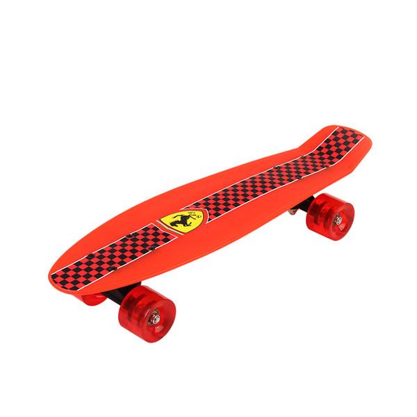 ABEC - 5 patineta doble de cuatro ruedas con doble patineta Patineta plegable para niños niño Carga máx. 50 kg