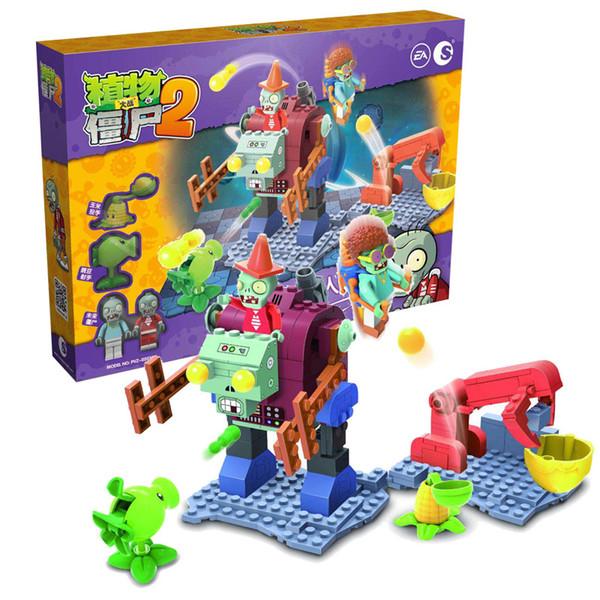 top popular Plants vs Zombies Building Blocks Shooting Toys The Mech Gargantuar Large Scene 2020
